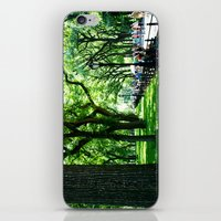 literary iPhone & iPod Skins featuring Literary Walk at Central Park, New York City   by Lissette