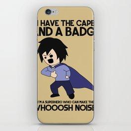 Cape and Badge iPhone Skin