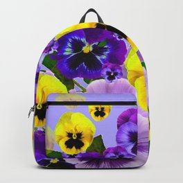 SPRING PURPLE & YELLOW PANSY FLOWERS Backpack