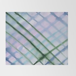 Intersection of greens || watercolor Throw Blanket