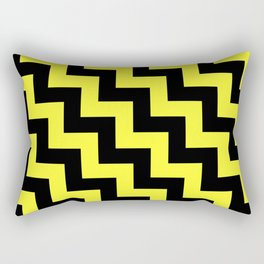Black and Electric Yellow Steps LTR Rectangular Pillow