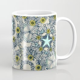 cirque fleur stone aqua star Coffee Mug