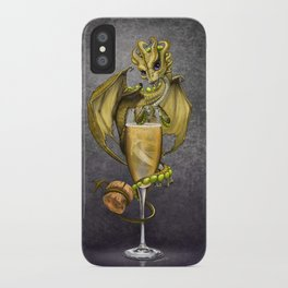 Champagne Dragon iPhone Case