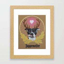 Jaggermeister - pitbull Framed Art Print