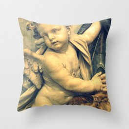 The Hallelujah Cherub. Throw Pillow