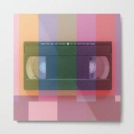 VHS_tvcolorbar_effect Metal Print
