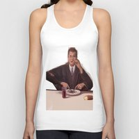 magritte Tank Tops featuring Rene Magritte- self portrait by Dano77