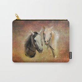 Friendly Chatter Between Horses Carry-All Pouch