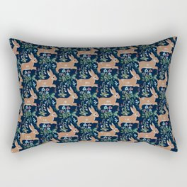 Rabbit medieval tapestry Rectangular Pillow