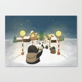 Santa's Workshop, (The Unexpected Adventures: Christmas Edition) Canvas Print
