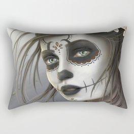 Day of the Dead Sugar Skull Girl Ultra HD Rectangular Pillow