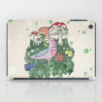 woodland iPad Cases featuring Woodland by Jo Cheung Illustration