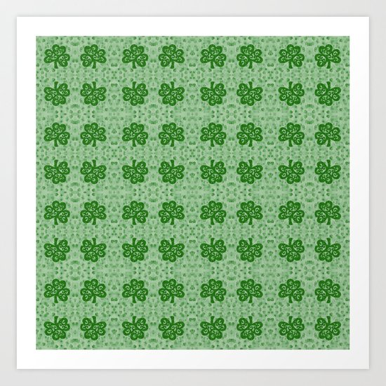 Irish Clover Art Print