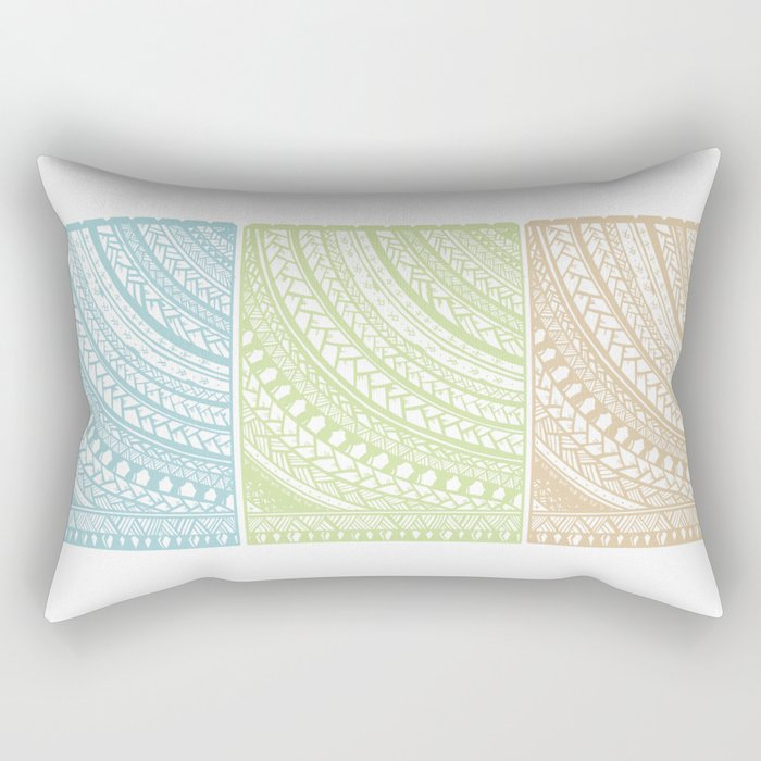 Weaved Elements I Rectangular Pillow