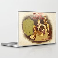 rocky horror picture show Laptop & iPad Skins featuring The Avenger Horror Picture Show by Leigh Lahav