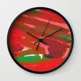 Red Session 4 - Reds and Greens Wall Clock