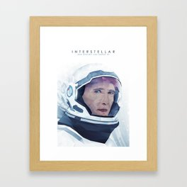Interstellar Low Poly Poster Framed Art Print