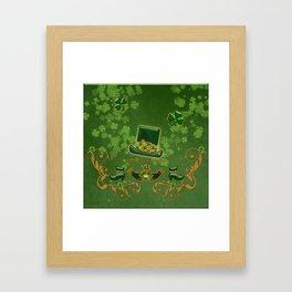 Happy st. patricks day Framed Art Print