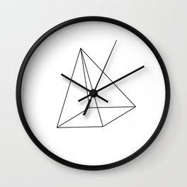 3D Pyramid Wall Clock