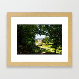 The abandoned ancient Monterano Framed Art Print