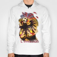 madonna Hoodies featuring L'invasion Madonna by RIGOLEONART