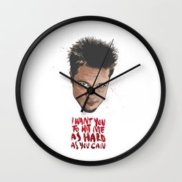 I want you to hit me as hard as you can Wall Clock