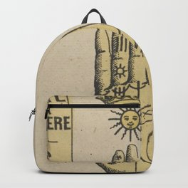 Vintage French Sun Tarot Card Backpack