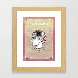 Keep an Open Mind. Framed Art Print