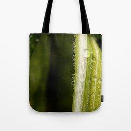 Garden Raindrops Tote Bag