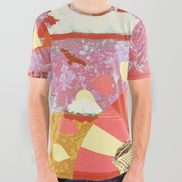AFTERNOON PSYCHEDELIA REDUX All Over Graphic Tee