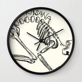 """Bakasana"" Skeleton Print Wall Clock"