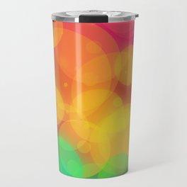 Colorful Bokeh Pattern Travel Mug