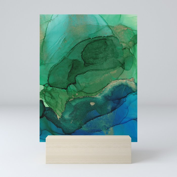 Ocean gold Mini Art Print