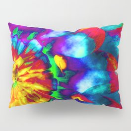 Groovy Tie Dyed Square Pillow Sham