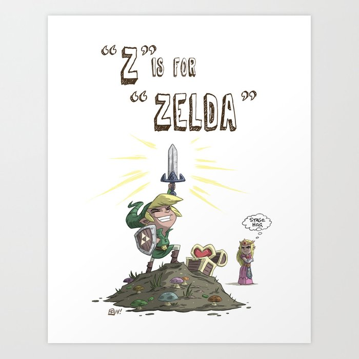 """Z"" Is For ""Zelda"" Art Print"