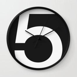 No. 5 — Black Wall Clock