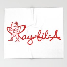 Ray Fillet's Ray-fil-A Throw Blanket