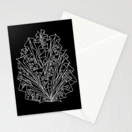 flame line art - black Stationery Cards