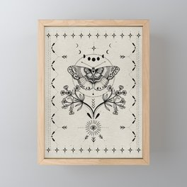 Magical Moth Framed Mini Art Print