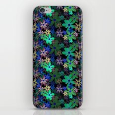 Blossoms in Bloom (Seamless Pattern, Inverted) iPhone & iPod Skin