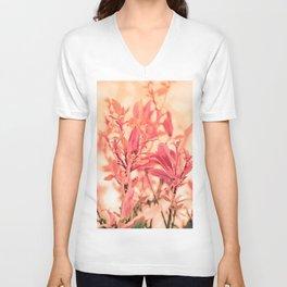 Magnolia Love in Apricot Unisex V-Neck