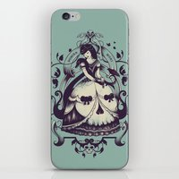 death iPhone & iPod Skins featuring Mrs. Death by Enkel Dika