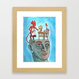 An Idle Mind Is The Devil's Workshop Framed Art Print