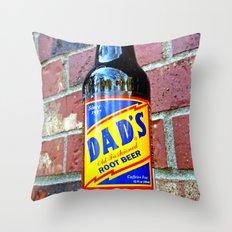 Retro root beer Throw Pillow