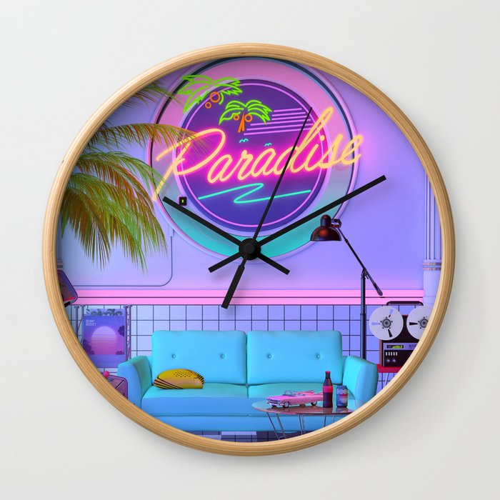 Paradise Wave Wall Clock