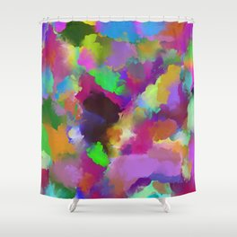 Expression Of Colour - Abstract, modern painting Shower Curtain