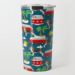 Beagles beagle pattern mini van vintage classic beach socal dog breed pattern Travel Mug
