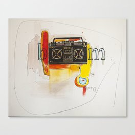 Abstract Boombox Canvas Print