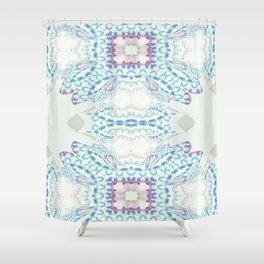 Hawaiian Diamond Header Pattern 2 Shower Curtain