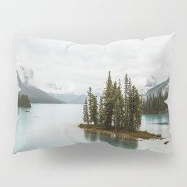 Emerald Spirit Island | Landscape Photography | Maligne Lake | Jasper Alberta Pillow Sham